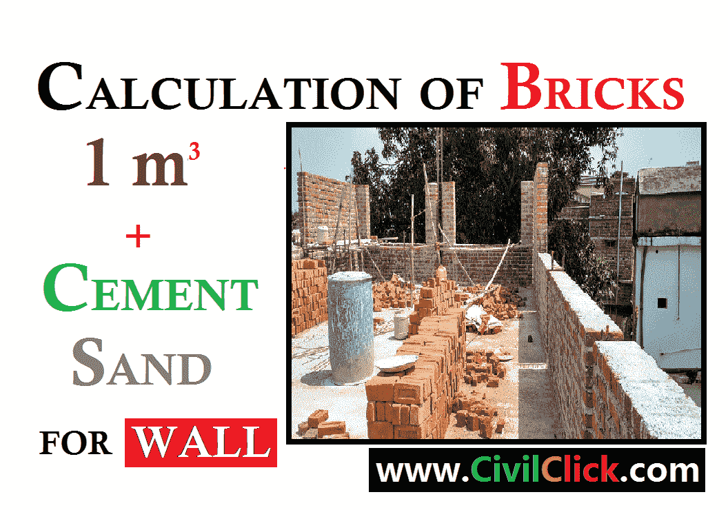 Quantity of Bricks Calculation in wall and Cement,Sand