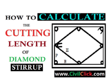 HOW TO CALCULATE CUTTING LENGTH OF DIAMOND STIRRUP 14