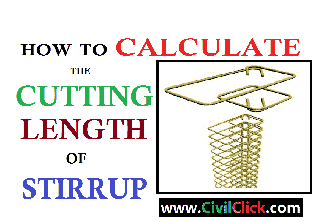 How to calculate Cutting length of rectangular stirrup in