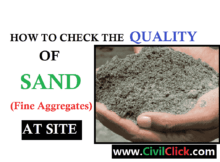HOW TO CHECK THE QUALITY OF SAND AT SITE 5