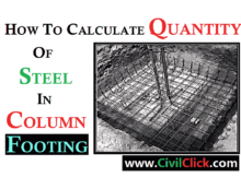HOW TO CALCULATE THE STEEL QUANTITY IN COLUMN FOOTING 4