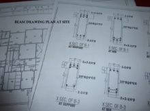 HOW TO READ BEAM DRAWING PLAN AT SITE 5