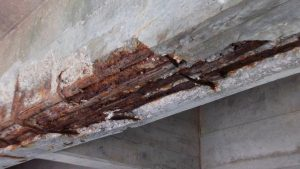 Corrosion occur in concrete