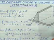 How to find the volume of retaining wall ? 8