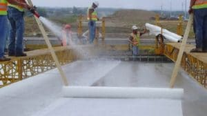 curing of concrete by Fogging or Sprinkling
