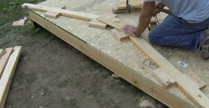 Install The Gusset on The First Rafter