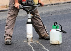 Quality control of bituminous concrete construction