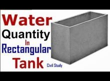 How to Calculate Rectangular Water Tank Capacity and Size